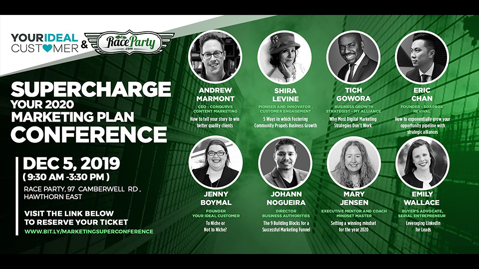 Supercharge your 2020 marketing plan conference